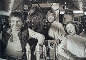 My friends Luke, Leia, and Han